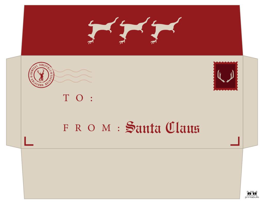 Printable Santa Envelope Template-Page 8