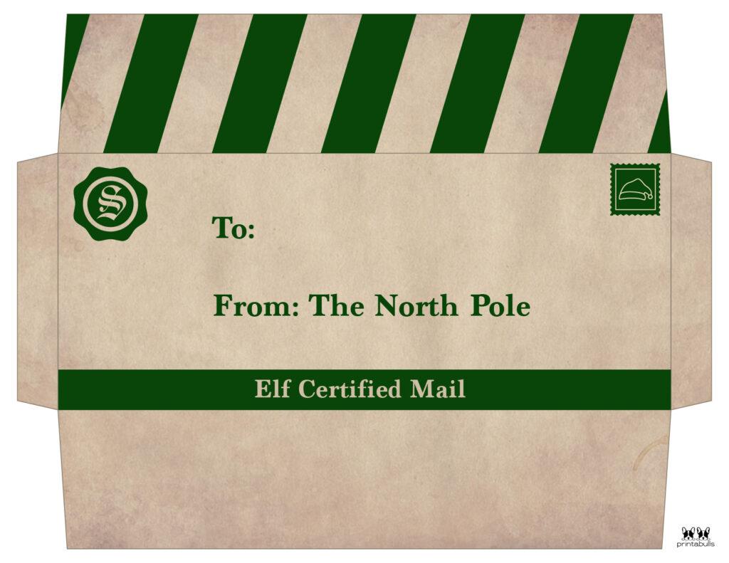 Printable Santa Envelope Template-Page 9