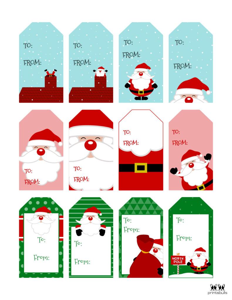 Printable Santa Gift Tags-Page 1