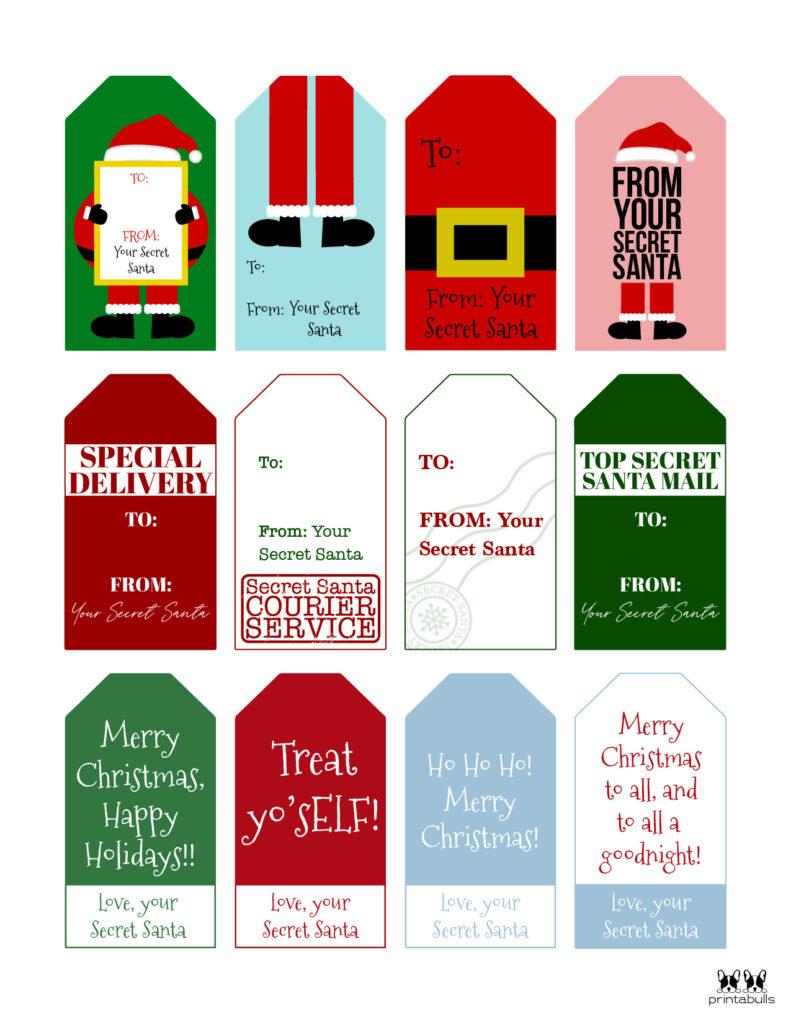 Printable Santa Gift Tags-Page 2
