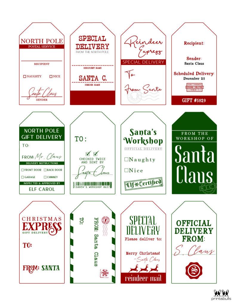 Printable Santa Gift Tags-Page 3