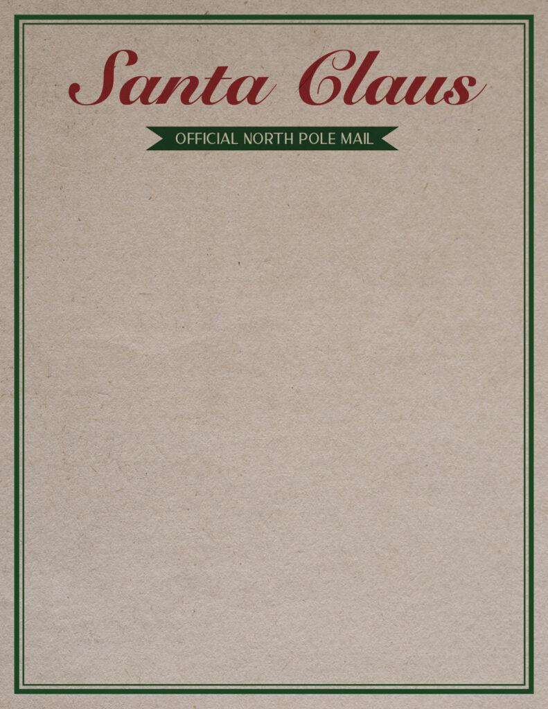 Printable Santa Letterhead-Page 2