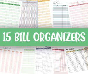 printable monthly bill organizers