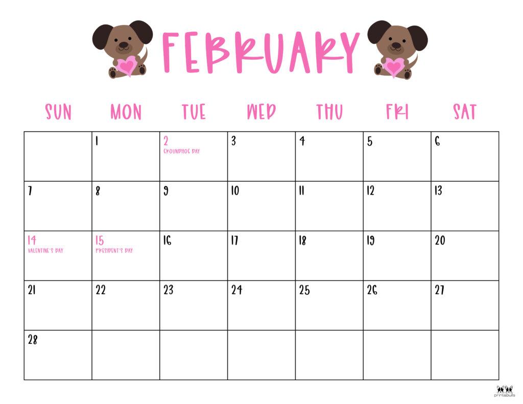 Printable February 2021 Calendar-Style 10