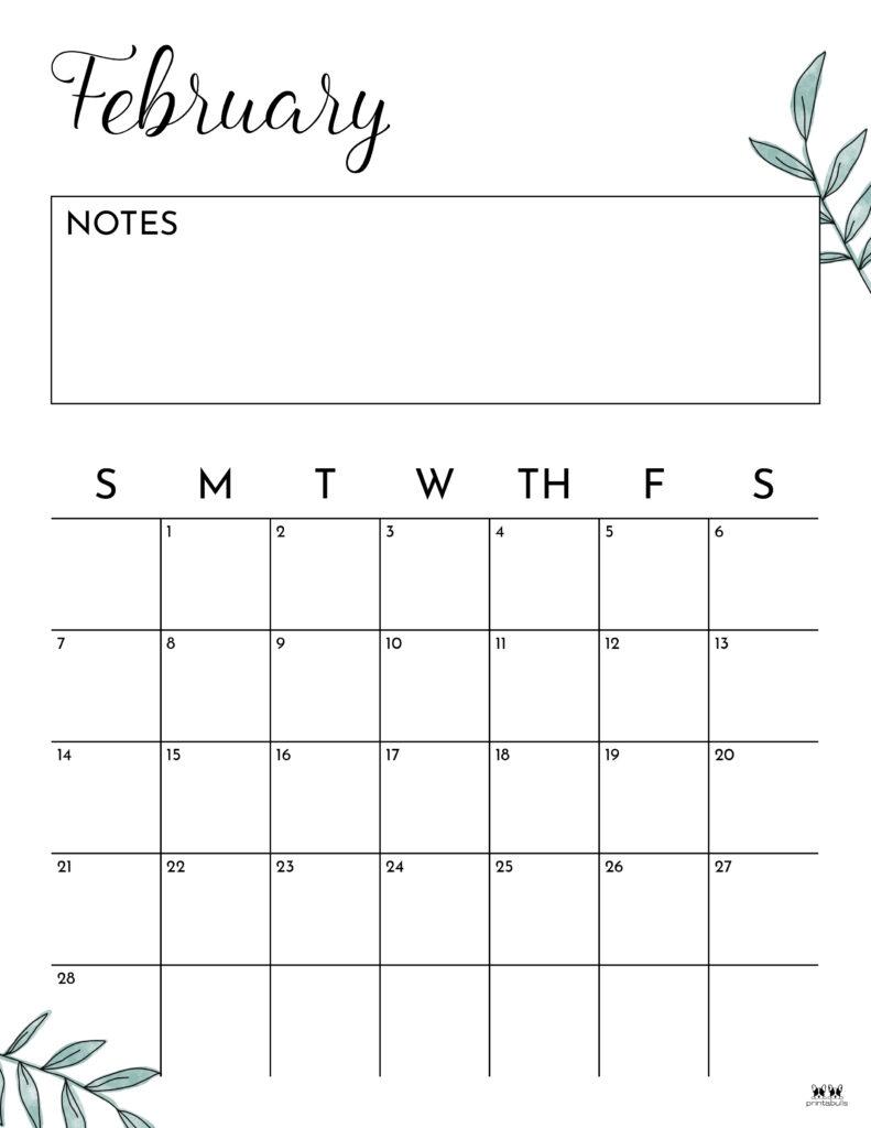 Printable February 2021 Calendar-Style 11