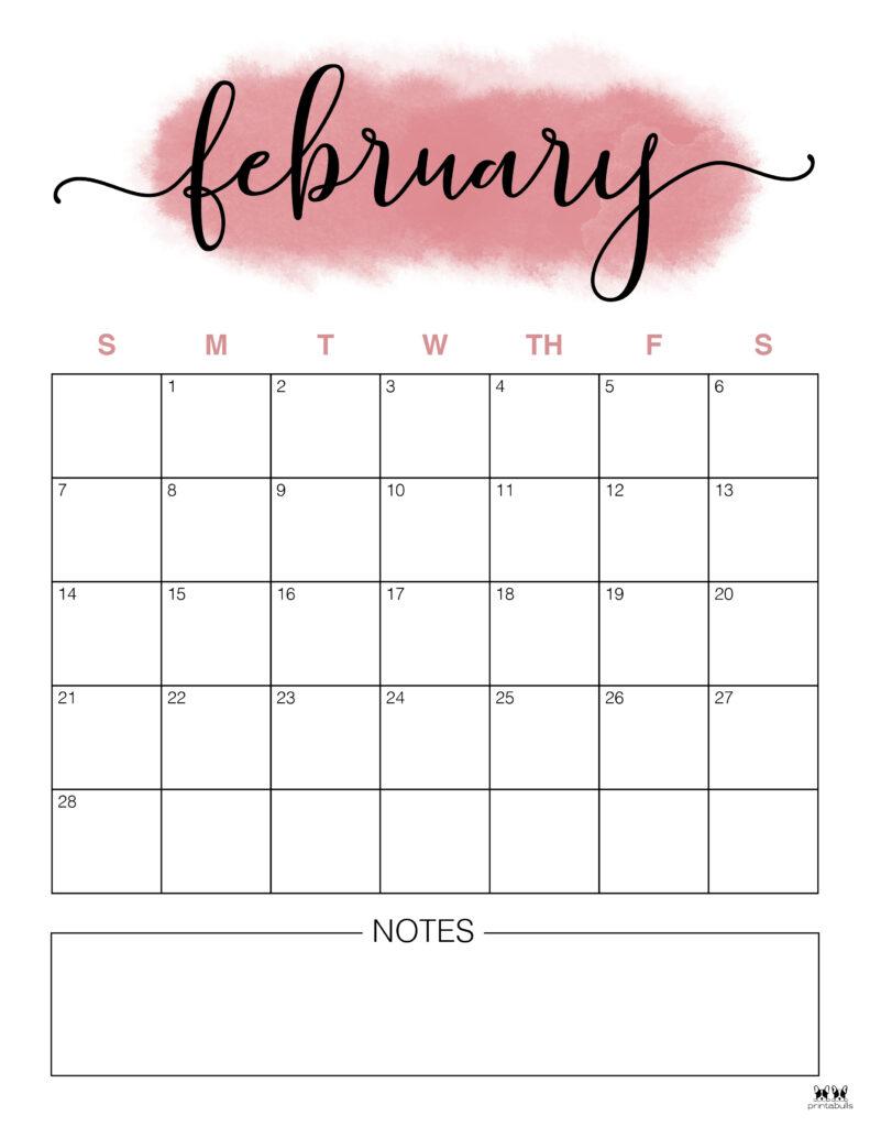 Printable February 2021 Calendar-Style 14