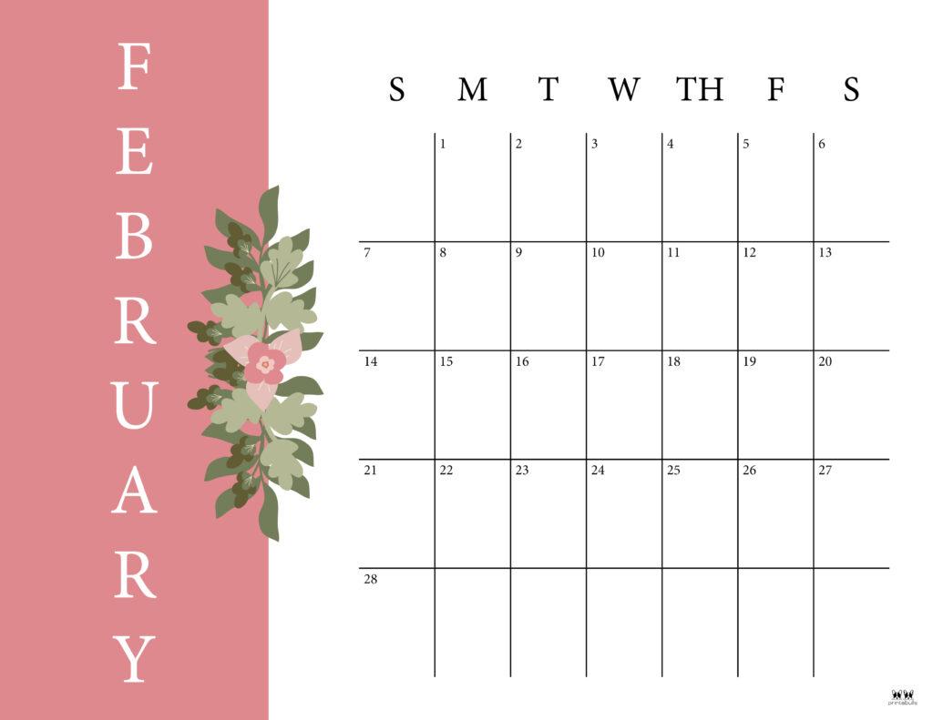 Printable February 2021 Calendar-Style 6