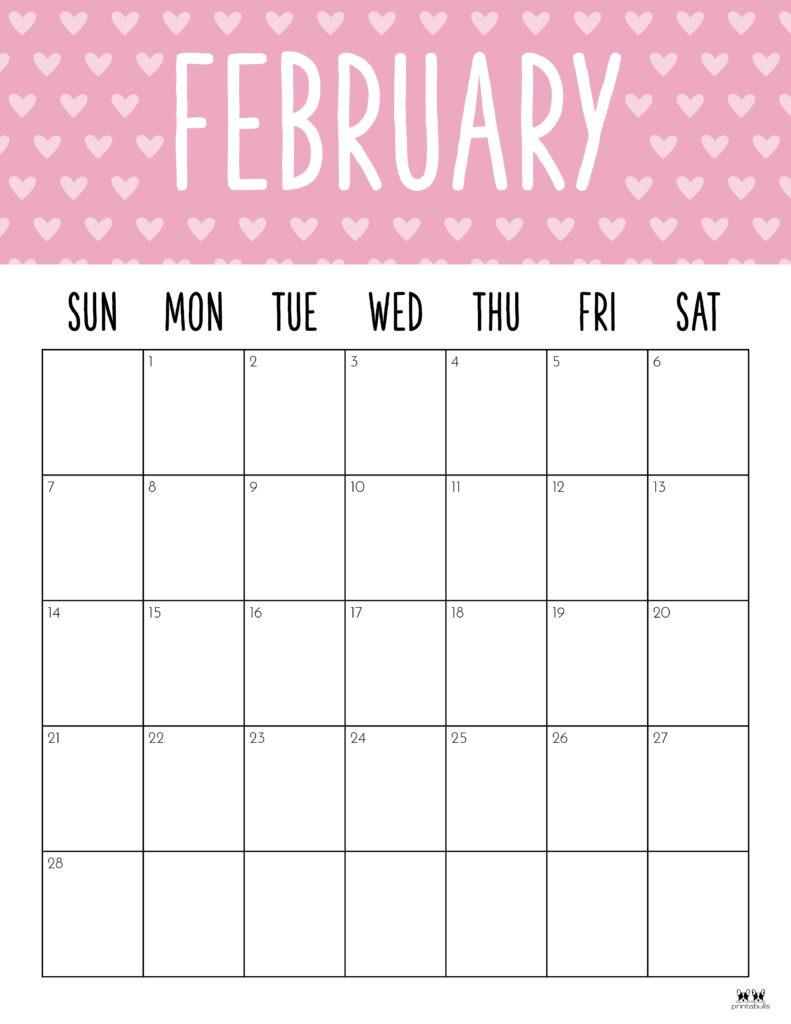 Printable February 2021 Calendar-Style 9