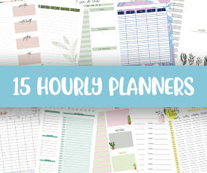 printable hourly planners