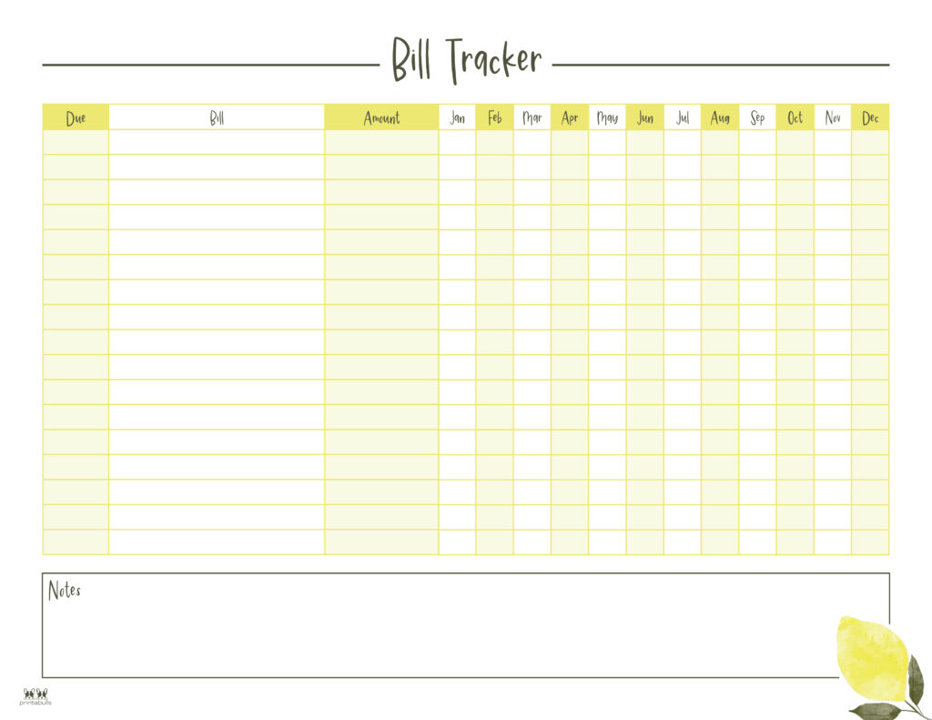 Printable Monthly Bill Organizer-Page 10