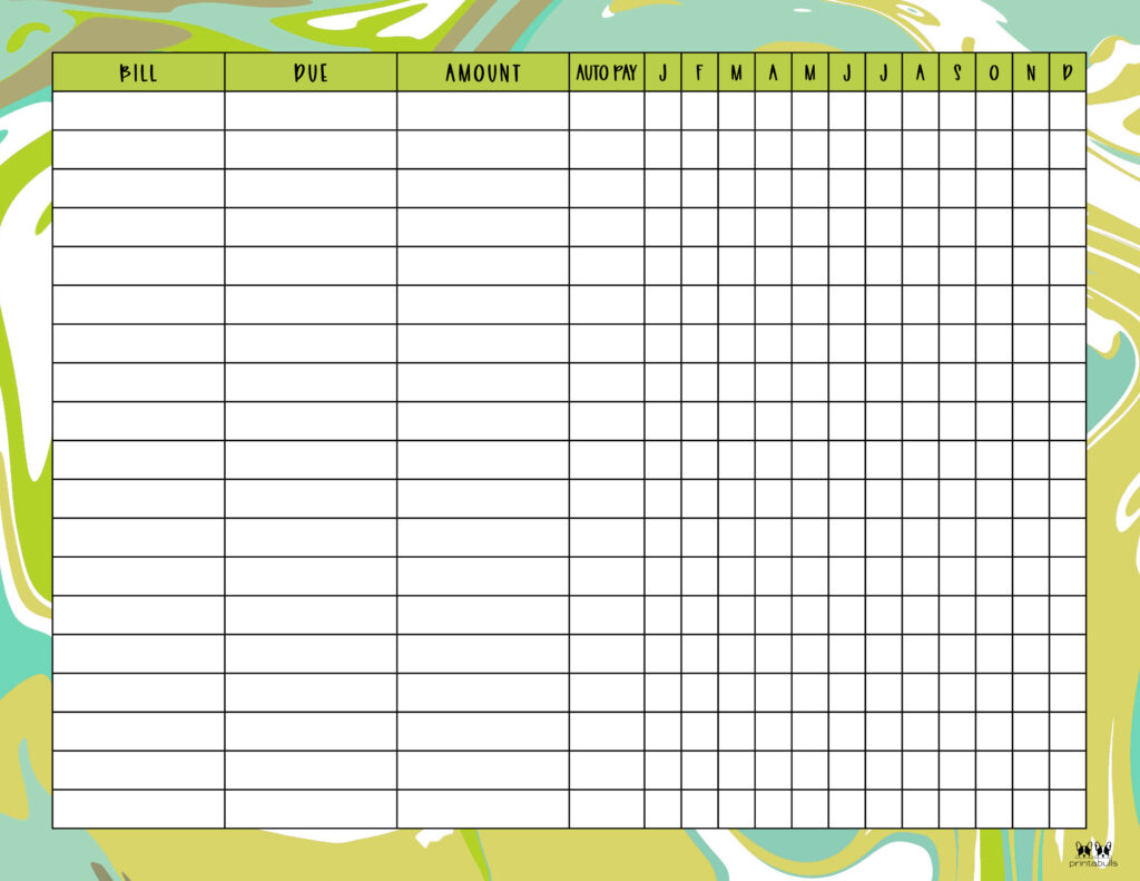 Printable Monthly Bill Organizer-Page 3