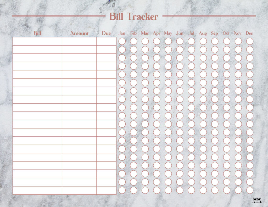 Printable Monthly Bill Organizer-Page 5