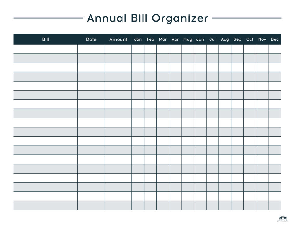 Printable Monthly Bill Organizer-Page 9