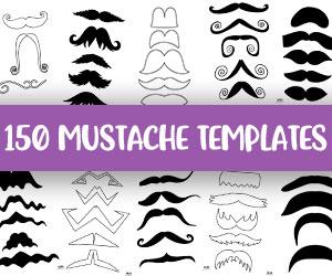 printable mustache templates