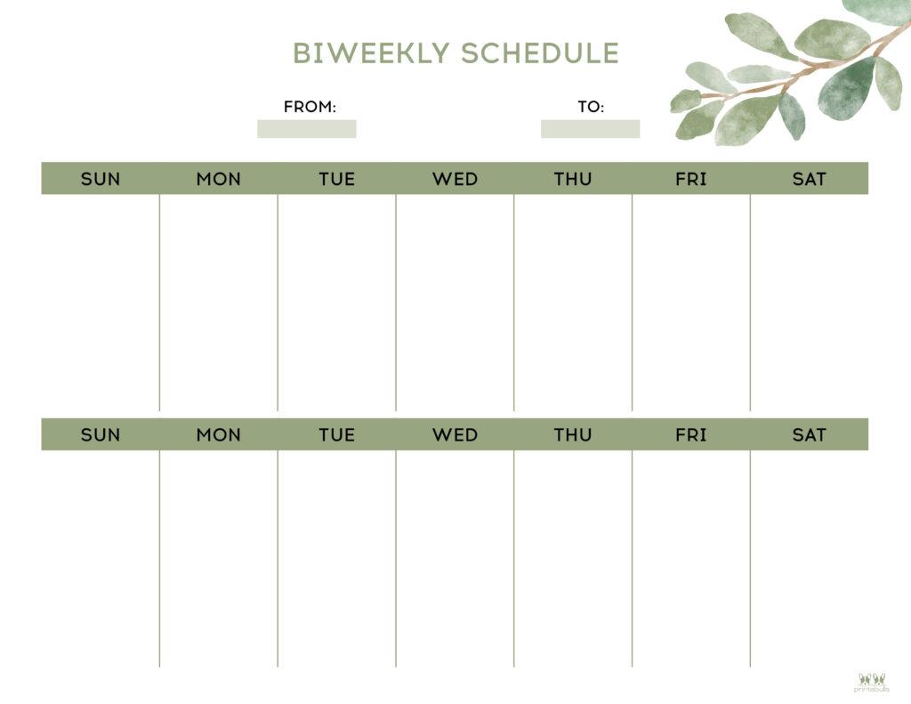 Printable Two Week Planner-Page 1