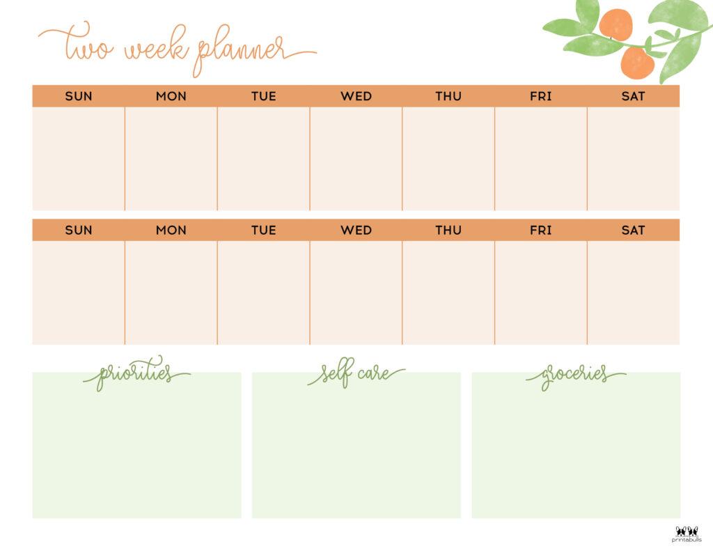 Printable Two Week Planner-Page 10