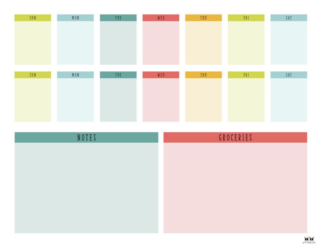Printable Two Week Planner-Page 3