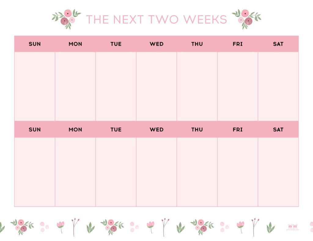 Printable Two Week Planner-Page 4