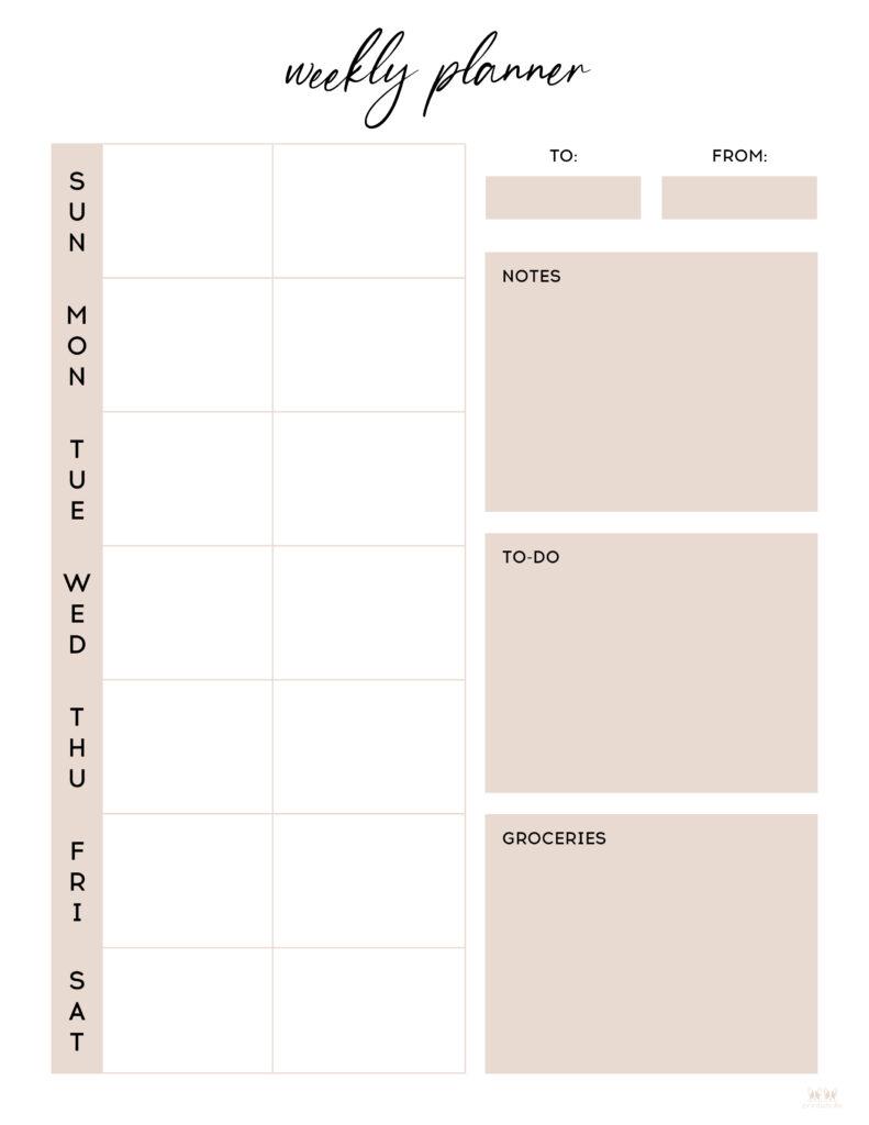 Printable Two Week Planner-Page 8