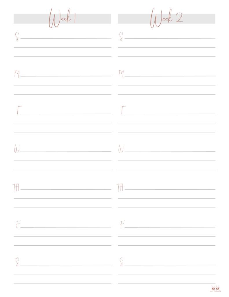Printable Two Week Planner-Page 9