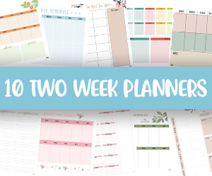 printable two week planners