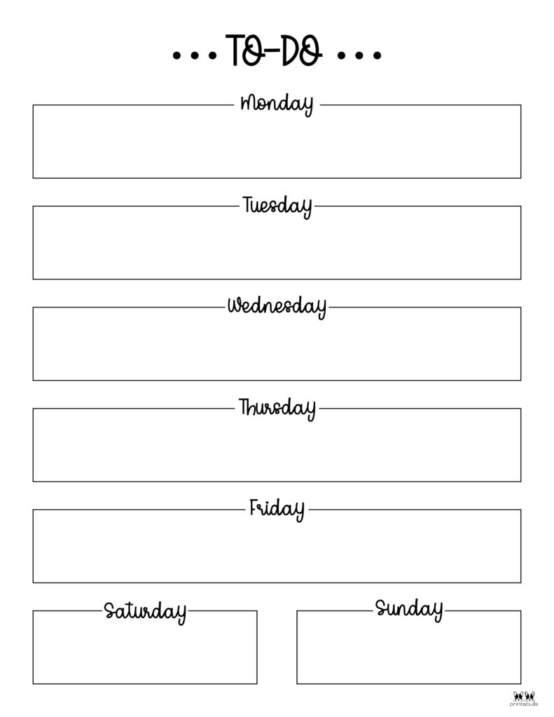Printable Weekly To Do List-Page 1