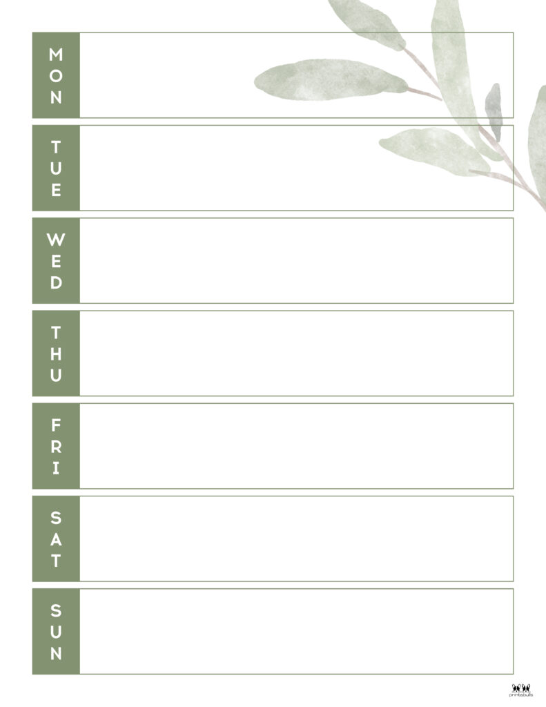Printable Weekly To Do List-Page 11