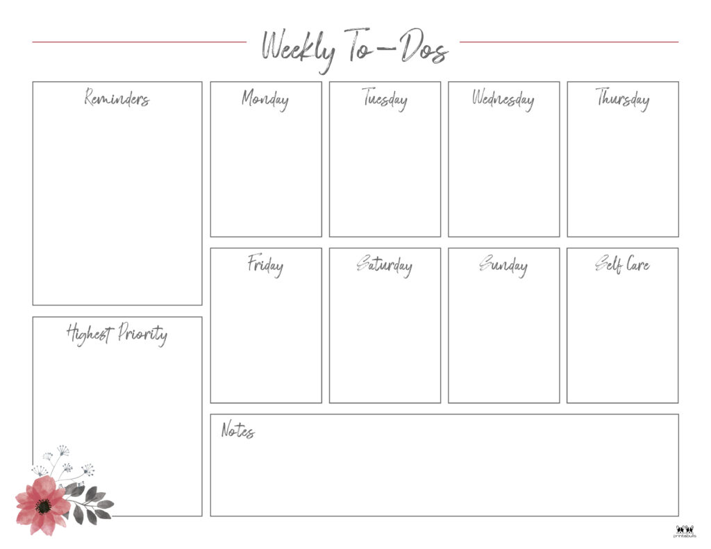 Printable Weekly To Do List-Page 14.1