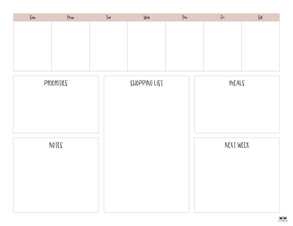 Printable Weekly To Do List-Page 2