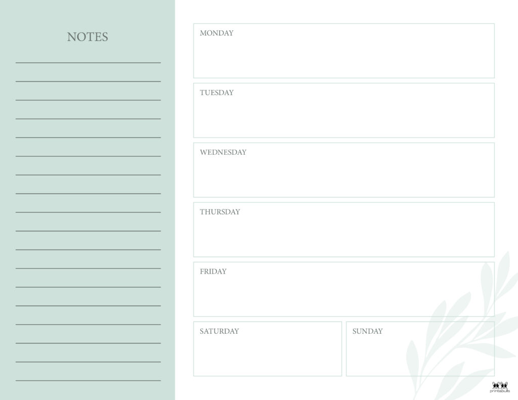 Printable Weekly To Do List-Page 4