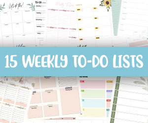 printable weekly to do lists