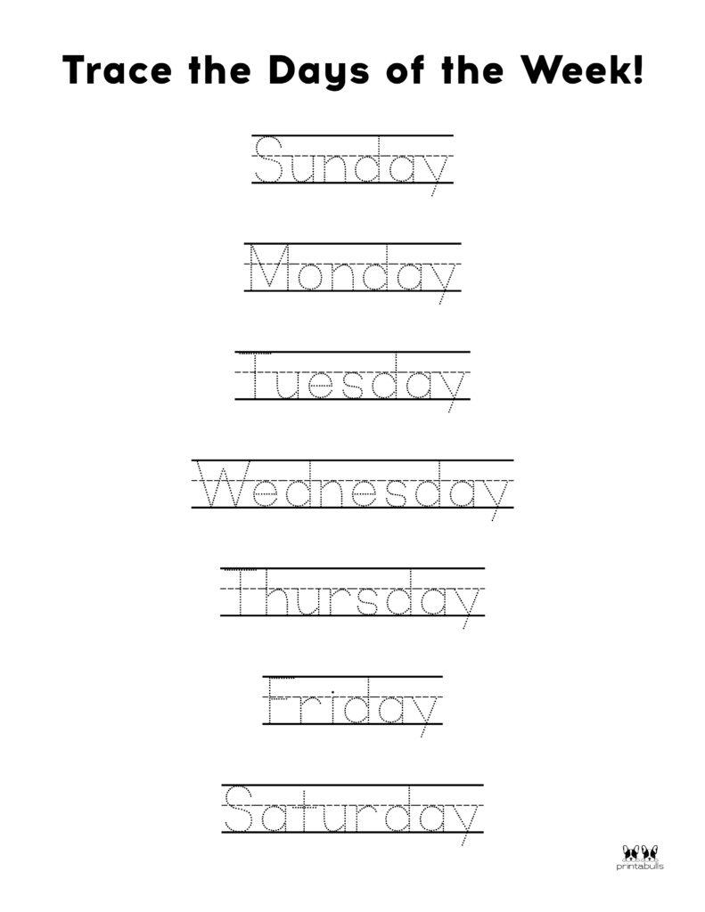 Days of Week Worksheet-Page 13