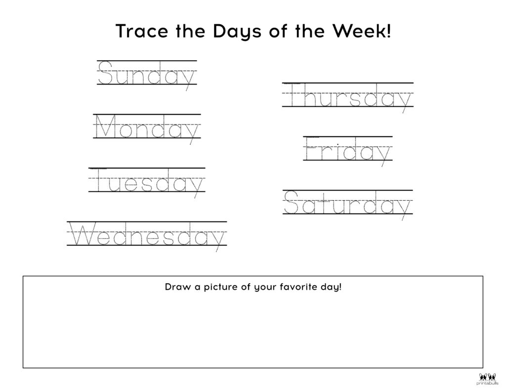 Days of the Week Worksheet-Page 15