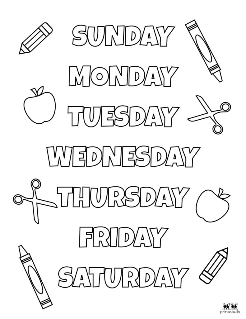 Days of the Week Worksheet-Page 17