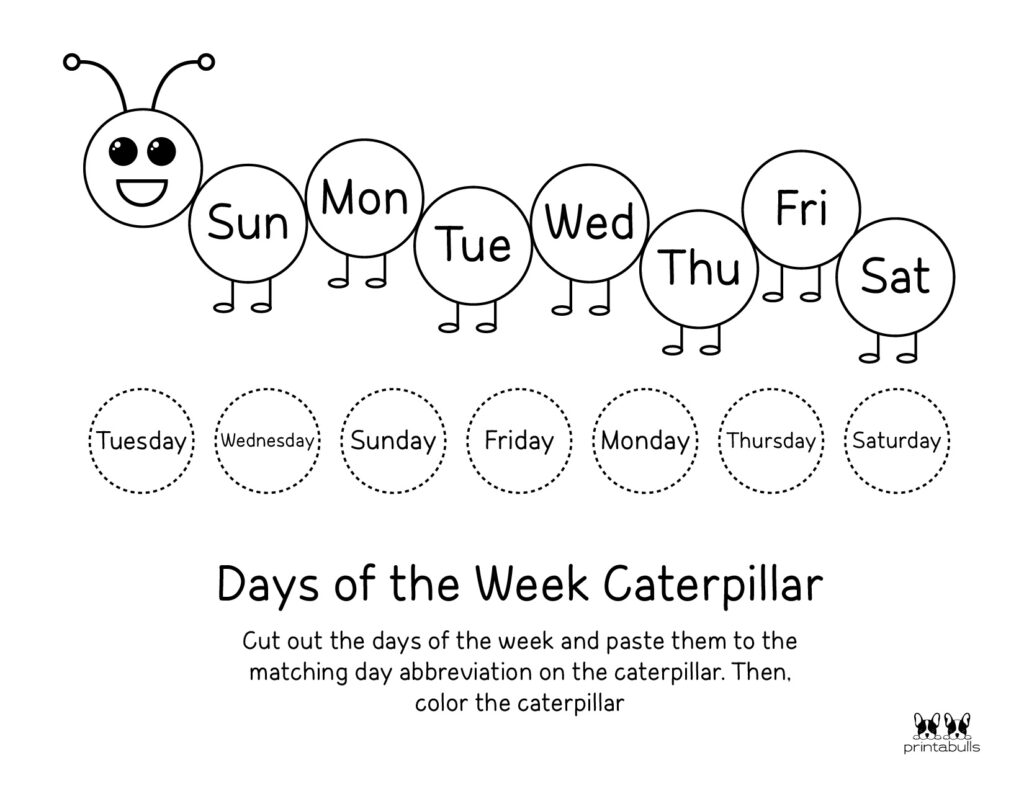 Days of the Week Worksheet-Page 26