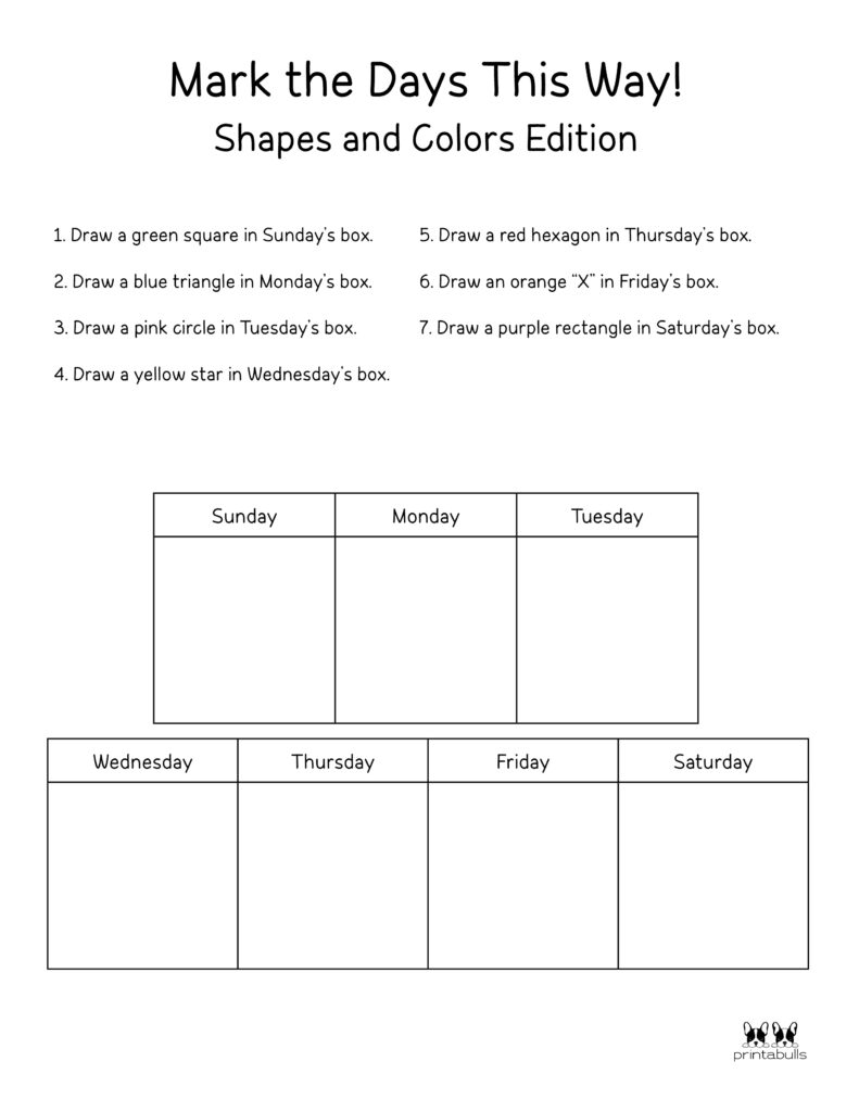 Days of the Week Worksheet-Page 35
