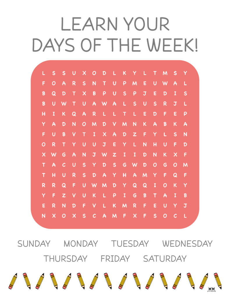Days of the Week Worksheet-Page 5