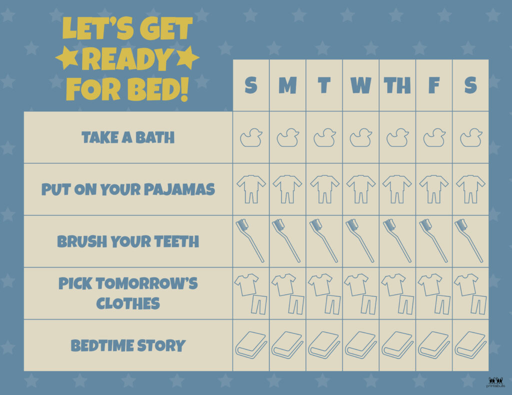 Printable-Bedtime-Routine-Charts-4