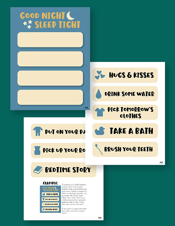 Printable-Bedtime-Routine-Charts-8
