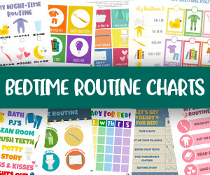 printable bedtime routine charts