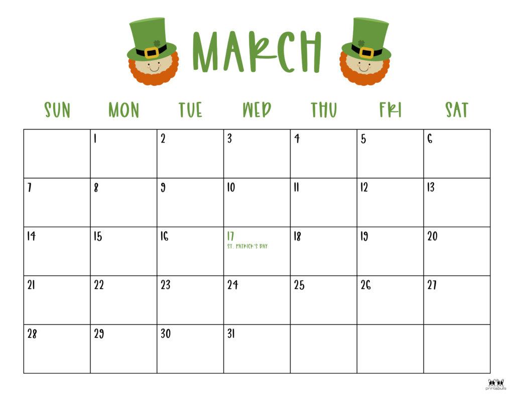 Printable March 2021 Calendar-Style 10