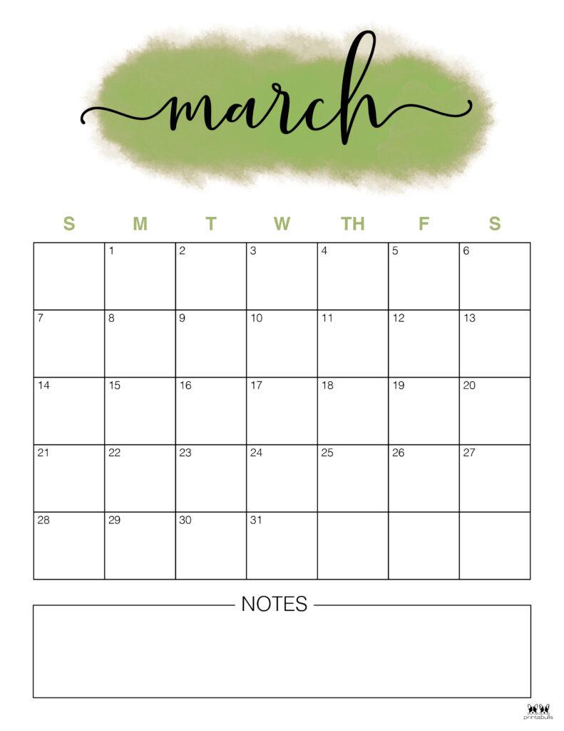 Printable March 2021 Calendar-Style 14
