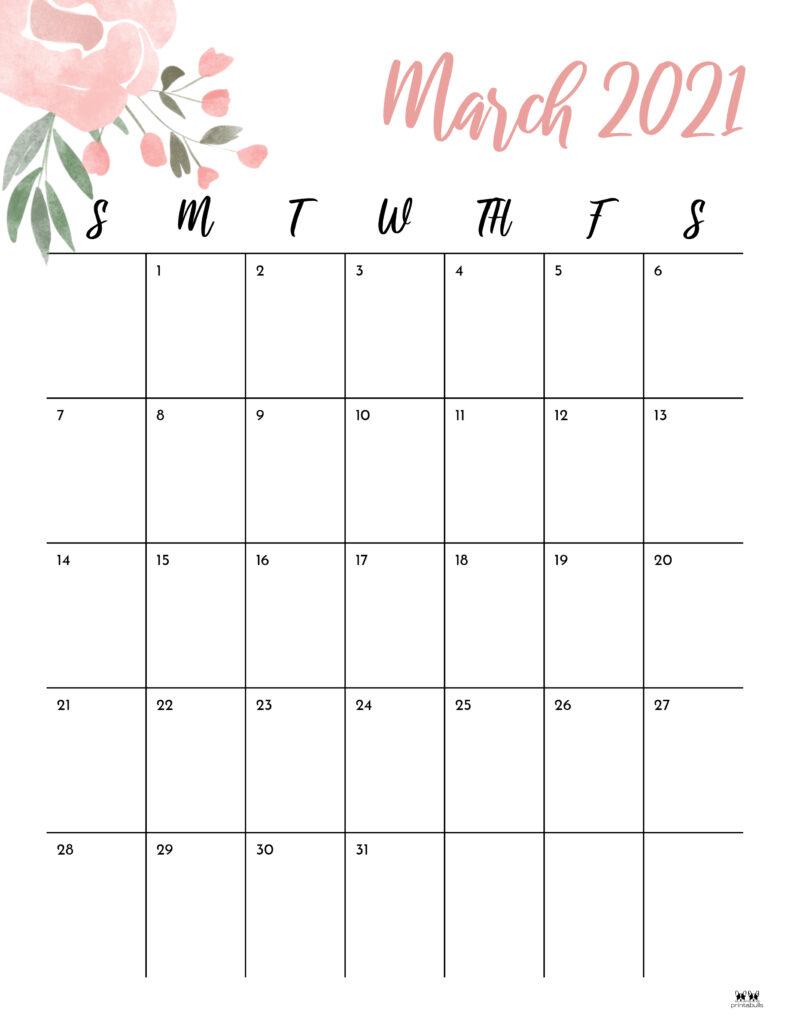 Printable March 2021 Calendar-Style 15