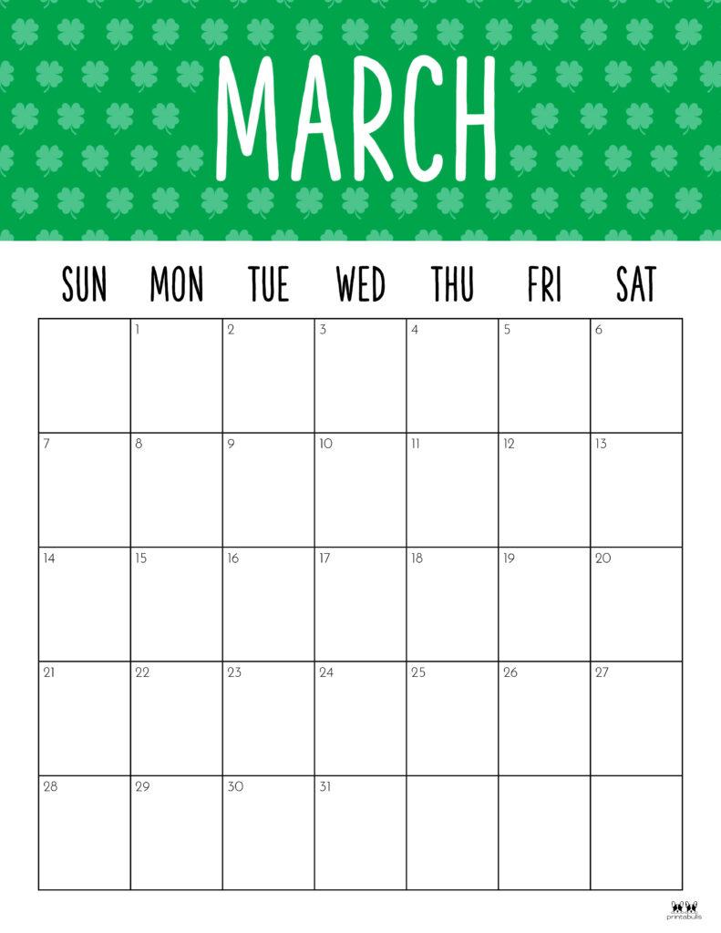 Printable March 2021 Calendar-Style 9