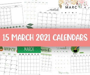 printable march 2021 calendars
