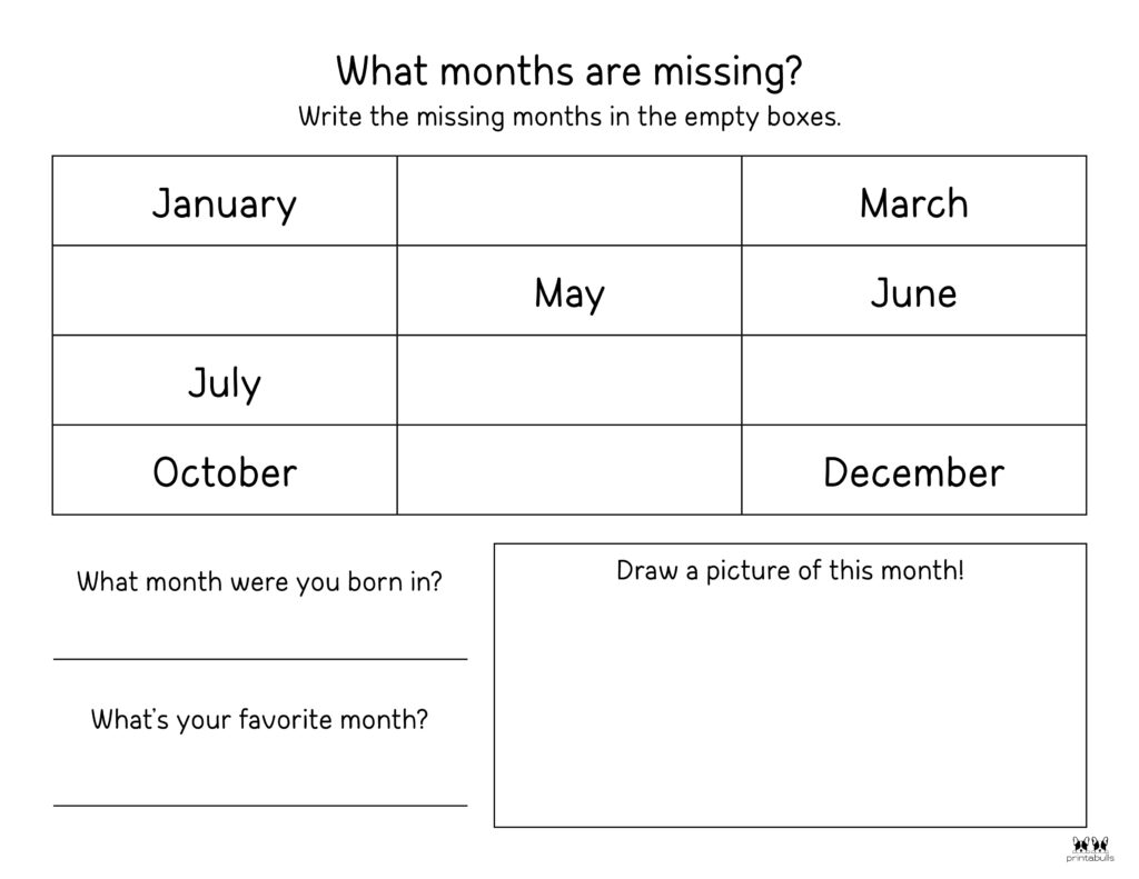Printable Months Of The Year Worksheet-Page 10