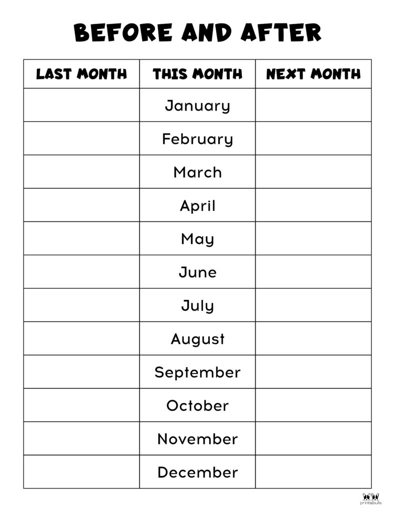 Printable Months Of The Year Worksheet-Page 13