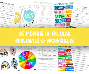 months of the year worksheets and printables