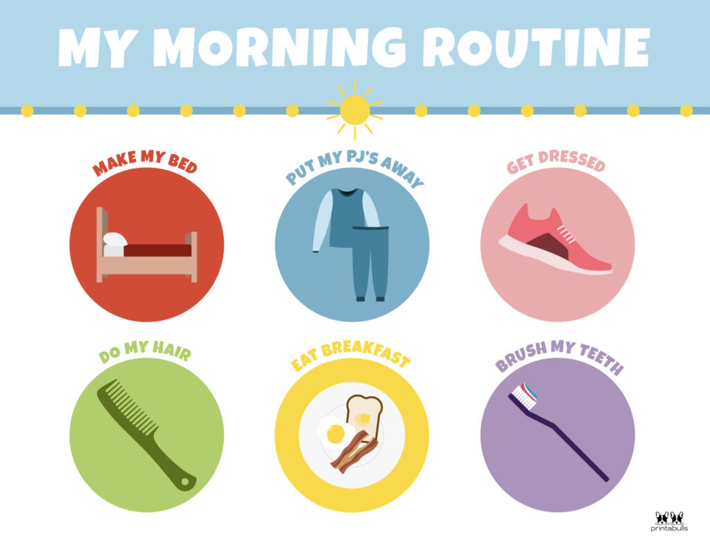 Printable Morning Routine Chart-Page 12