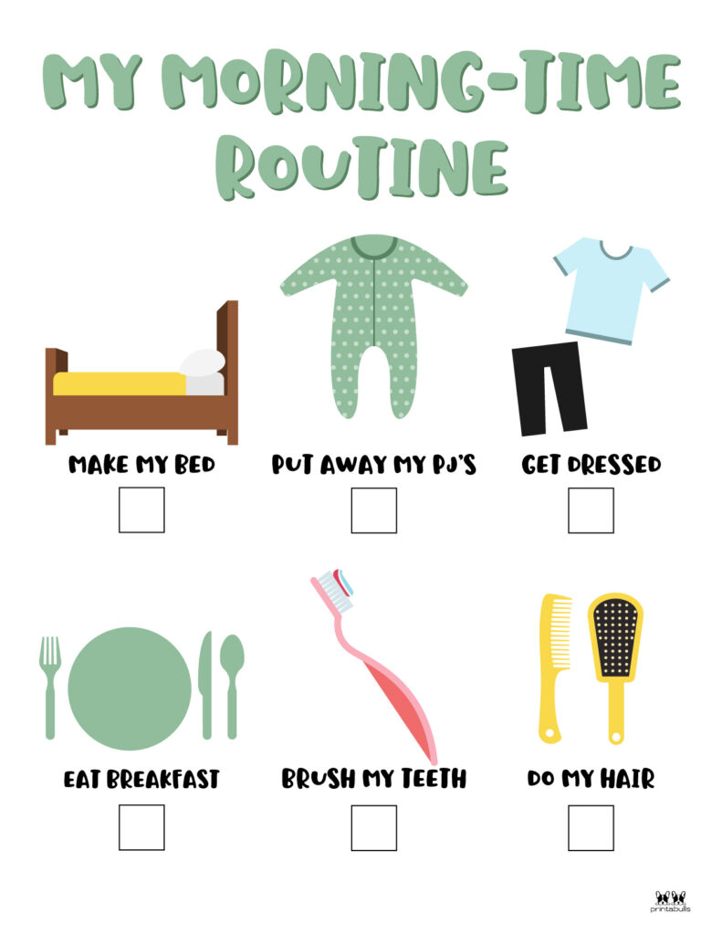 Printable Morning Routine Chart-Page 14